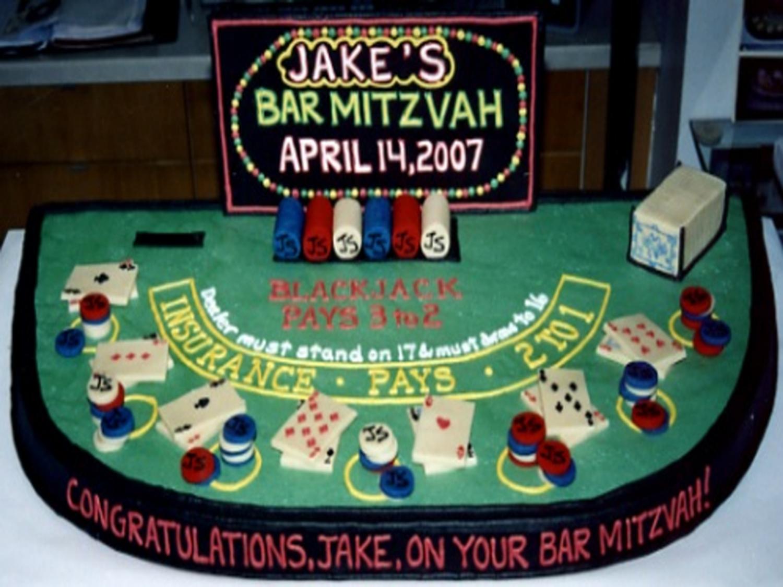 Bat Mitzvah Night Bar Party Cake